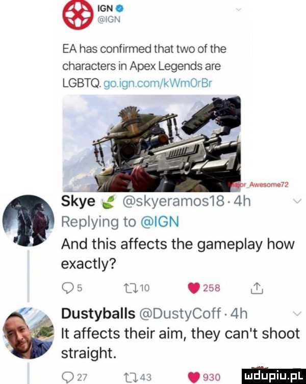 ian. uicix ea has confirmed trat tao of tee characters in alex legends are lgbtq. go gn com kaorbr. abakankami v awesome śkye g skyeramos    h replying to ian and tais affects tee gameplay hiw exactly q     in.     dustyballs dustycoff  h. it affects their aim they cen t shoot straight. w w